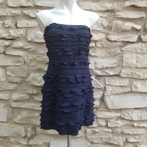 4/$20 Express Tiered Ruffle Tube Mini Dress S